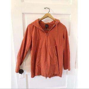 Eileen Fisher Organic Cotton Orange Hoodie